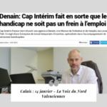 Cap Interim France revue de presse Voix du Nord Valenciennes